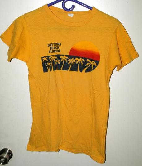 Vtg 80s Daytona Beach Florida Sunset Tourist T-shirt