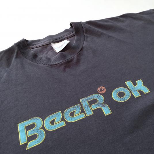 Mid 90s Blur Reebok spoof 'Beer Ok' T-shirt