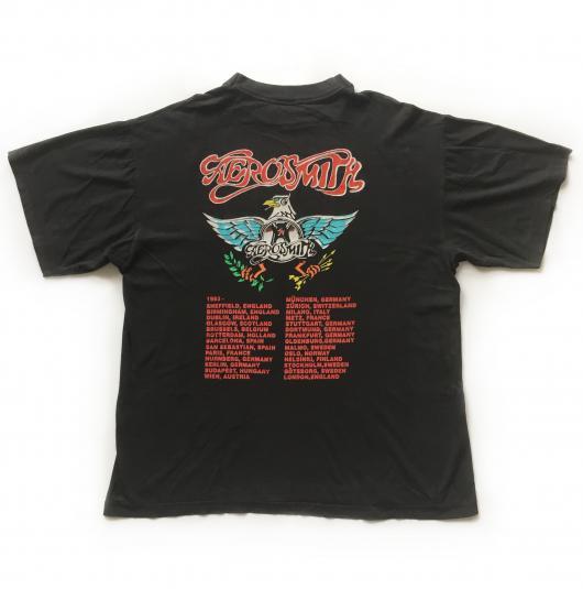 1993 Aerosmith 'Aero Force One' European Tour T-shirt
