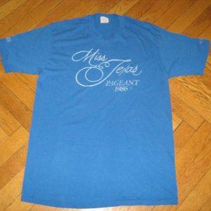 1986 Miss Texas Pageant Tshirt
