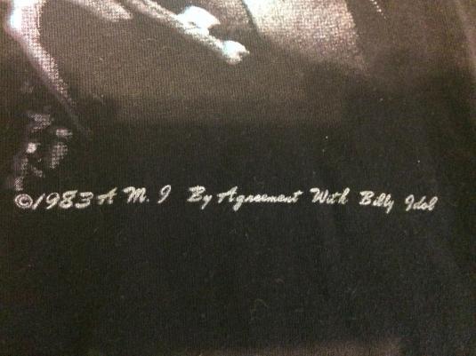 1983 Billy idol mint condition tshirt