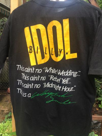1986 mint condition billy idol tshirt