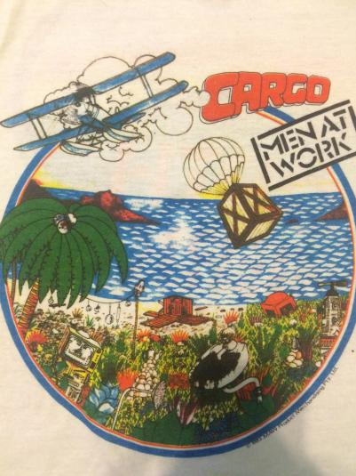 1983 MEN AT WORK cargo tshirt