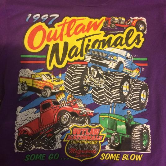Monster truck outlaw tshirt