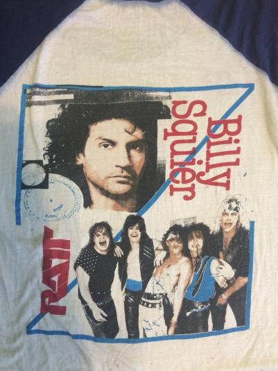 RARE Billy Squire, RATT 1984 signs of life tour tshirt