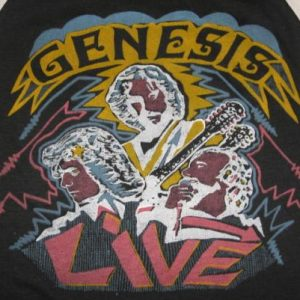 Vintage 80s Genesis Duke Tour Concert Raglan T-Shirt XS