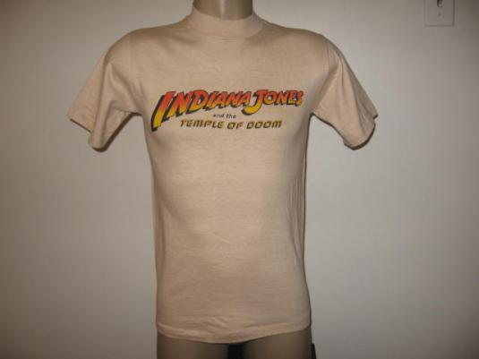 Vintage 1983 Indiana Jones and the Temple of Doom T-Shirt