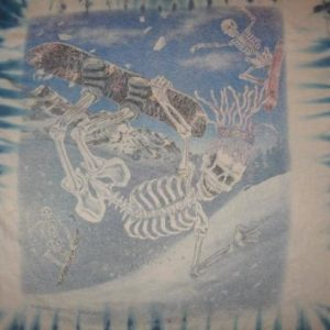 Vintage Greg Speirs Snowboard Skeletons Tie Dyed T-Shirt L