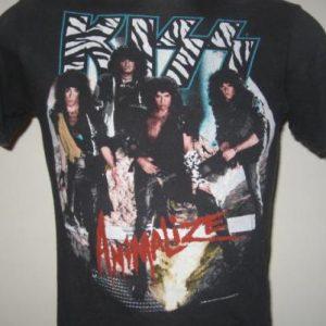 Vintage 1985 Kiss Animalize Concert T-Shirt XS