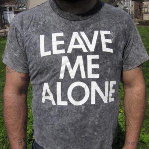 "Vintage 90s Overdye Fantasy ""LEAVE ME ALONE"" Novelty T-shirt"