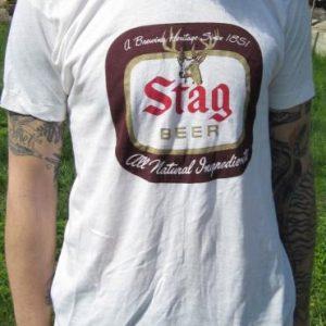 Vintage Stag Beer Logo T-shirt