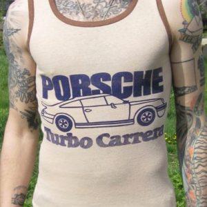 Vintage 1970s Porsche Turbo Carrera Muscle Tank T-shirt