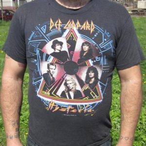 Vintage Def Leppard Hysteria World Tour T-shirt