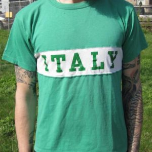 Vintage 80s Green ITALY Jersey T-shirt