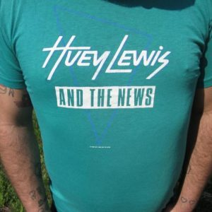 Vintage 1987 Huey Lewis & the News Fore! Tour T-shirt