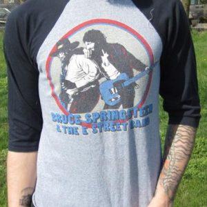 Vintage Bruce Sprintsteen 80-81 World Tour Baseball T-shirt