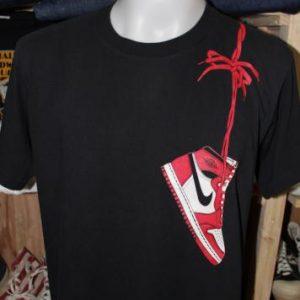 Vintage 80's Nike Air Jordan blue tag t shirt XL