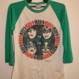 VINTAGE 1979 KISS WORLD TOUR T-SHIRT
