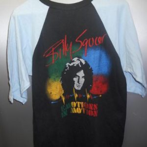 1982 billy squire emotions in motion concert baseball jersey