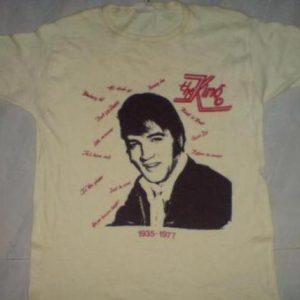 VINTAGE ELVIS PRESLEY T- SHIRT 1970s