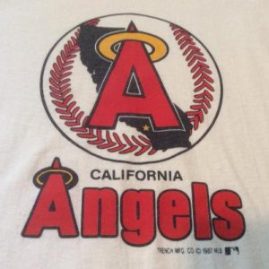 Vintage California Angels Logo Long Sleeve T Shirt L White