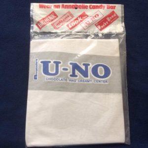 Vintage 1970's Annabelle's U-No Candy Bar T Shirt NIP Ringer