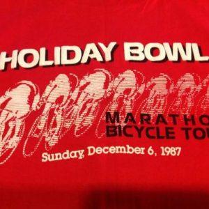 Vintage Holiday Bowl Marathon Bicycle Tour T-Shirt