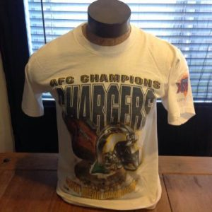 Vintage San Diego Chargers 1995 AFC Champions T-Shirt