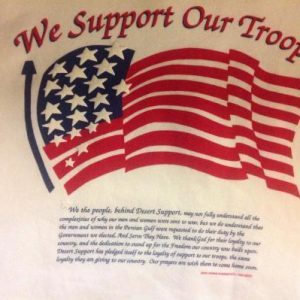 Vintage 1991 Support Our Troops Sweatshirt Persian Gulf
