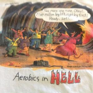 Vintage The Far Side Aerobics In Hell T-Shirt