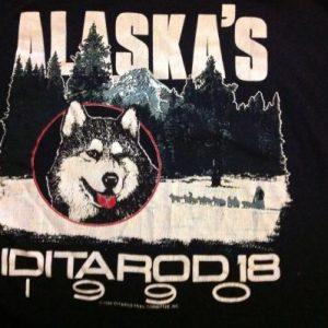 Vintage 1990 Alaska's Iditarod 18 T-shirt