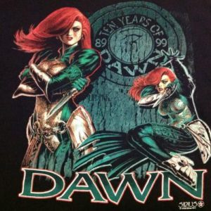 Vintage Dawn T-Shirt Ten Years Of Dawn 1989-1999