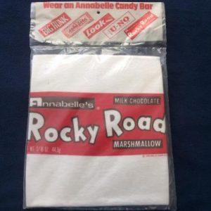 VTG 1970's Annabelle's Rocky Road Candy Bar T Shirt NIP