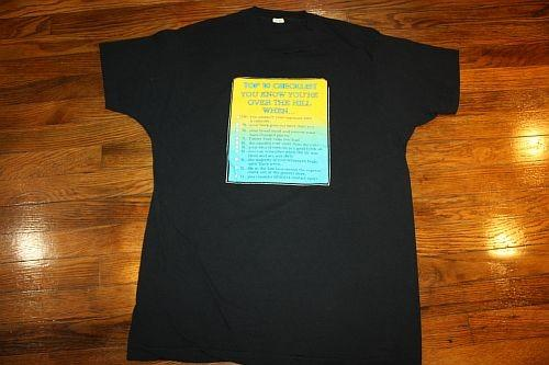 L * vtg 80s OVER THE HILL t-shirt * SCREEN STARS