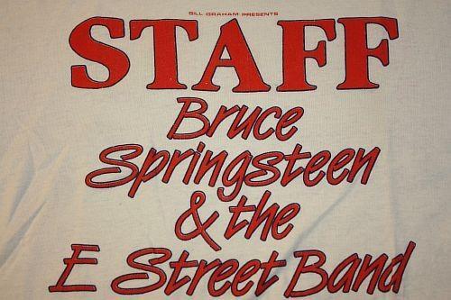 M * vintage 80s 1985 BRUCE SPRINGSTEEN oakland STAFF t-shirt