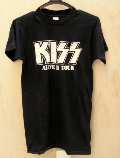 VINTAGE KISS ALIVE II 2 TOUR '78 T- SHIRT 1978 S ORIGINAL
