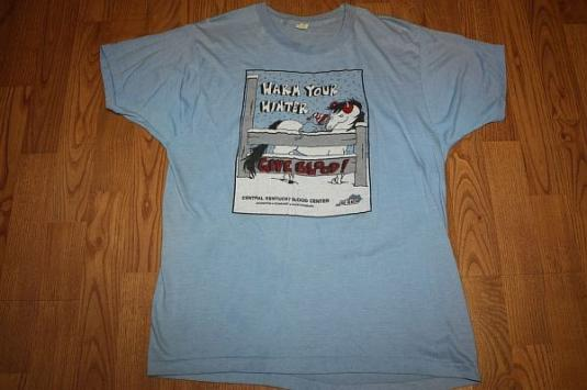 M / L* Vintage 80s KENTUCKY blood drive t-shirt SCREEN STARS