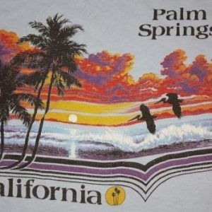 L * vintage 1982 PALM SPRINGS CALIFORNIA t-shirt * tourist