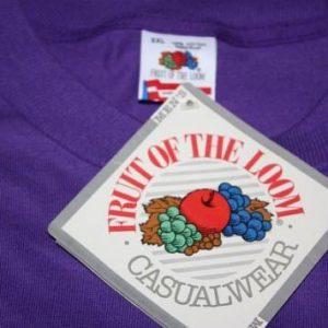 XXL * NOS vtg 1991 purple BLANK shirt w/ orig tag