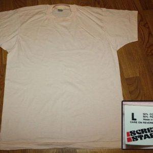 L * NOS Vintage blank paper thin SCREEN STARS t-shirt *