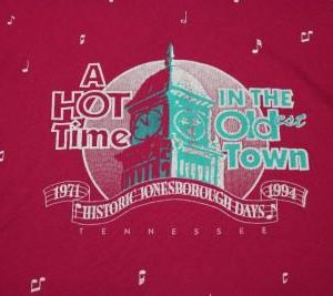 vtg 1994 HOT TIME IN THE OLD TOWN tennessee shirt XL