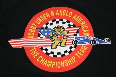 Vintage BOBBY UNSER & ANGLO AMERICAN t-shirt L indy 500