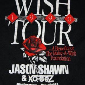 L vtg 1990 MAKE A WISH tour shirt * jason shawn xq-sez