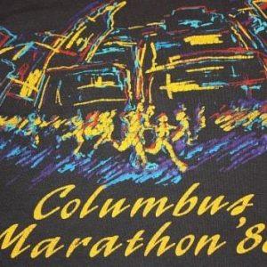 L * vintage 80s 1988 COLUMBUS MARATHON screen stars T- shirt