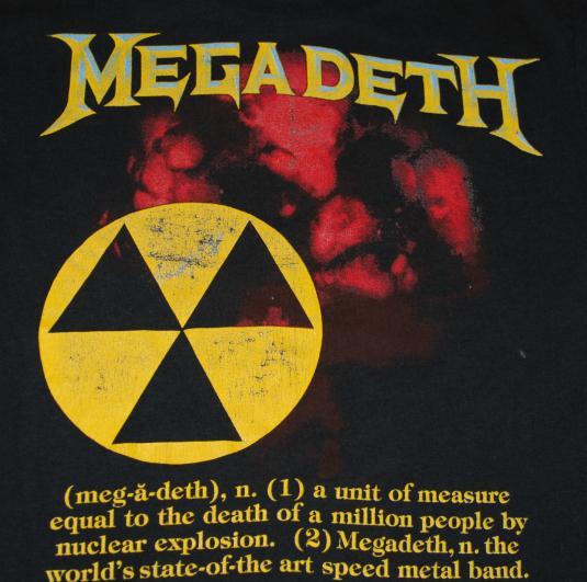 VINTAGE MEGADETH '87 T- SHIRT 1987 1980'S S ORIGINAL VINTAGE