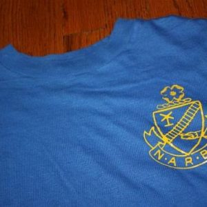 Vintage 80s NARBW t-shirt M/L railroad business women TRAIN