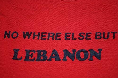 XS * Vintage 80s NO WHERE BUT LEBANON t-shirt