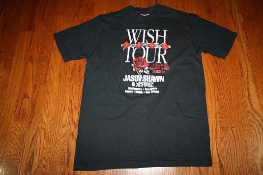 L Vintage 1990 MAKE A WISH tour t-shirt * jason shawn xq-sez