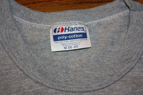 S * Vintage 80s blank front #12 heather gray t shirt