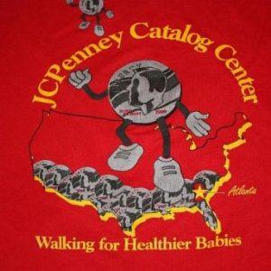 Vintage 1990 MARCH OF DIMES Atlanta t-shirt XL soft & thin